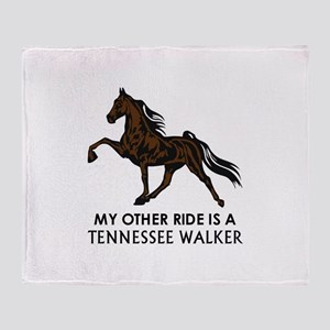 Ride Is A Tennessee Walker Throw Blanket