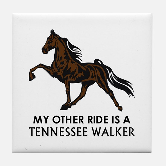Ride Is A Tennessee Walker Tile Coaster