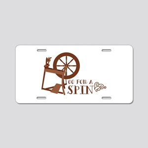 Go for a Spin Aluminum License Plate
