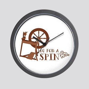 Go for a Spin Wall Clock