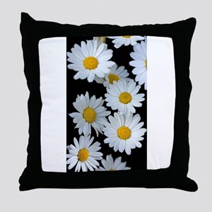 black daisy Throw Pillow