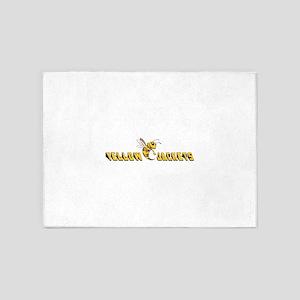 YELLOW JACKETS 5'x7'Area Rug