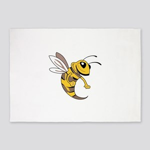 YELLOW JACKET MASCOT 5'x7'Area Rug