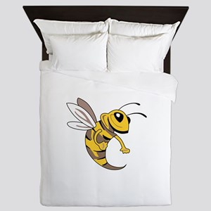 YELLOW JACKET MASCOT Queen Duvet