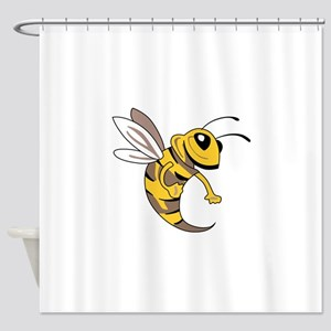 YELLOW JACKET MASCOT Shower Curtain