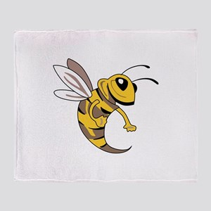 YELLOW JACKET MASCOT Throw Blanket