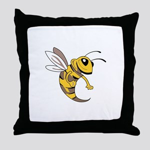 YELLOW JACKET MASCOT Throw Pillow