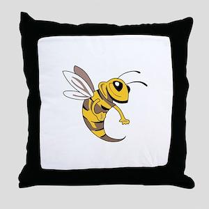 YELLOW JACKET MASCOT Throw Pillow