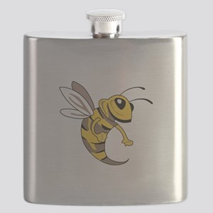 YELLOW JACKET MASCOT Flask