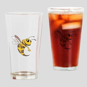 YELLOW JACKET MASCOT Drinking Glass