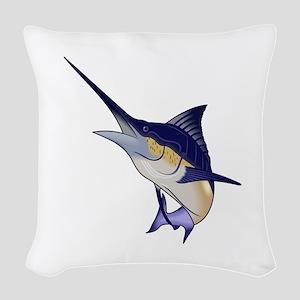 BLUE MARLIN Woven Throw Pillow