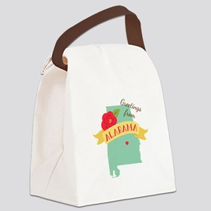 Greetings from Alabama Canvas Lunch Bag
