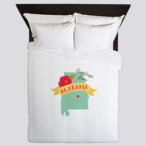 Greetings from Alabama Queen Duvet