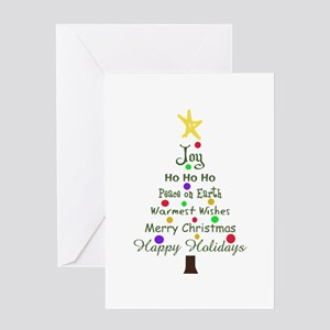 CHRISTMAS TREE GREETINGS Greeting Cards