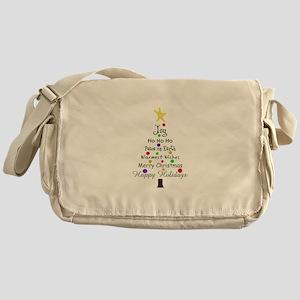 CHRISTMAS TREE GREETINGS Messenger Bag