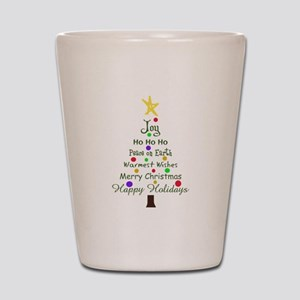 CHRISTMAS TREE GREETINGS Shot Glass