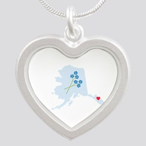 Alaska State Map Necklaces