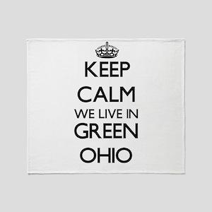 Keep calm we live in Green Ohio Throw Blanket