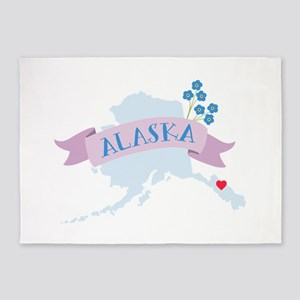 Alaska Forget Me Not 5'x7'Area Rug