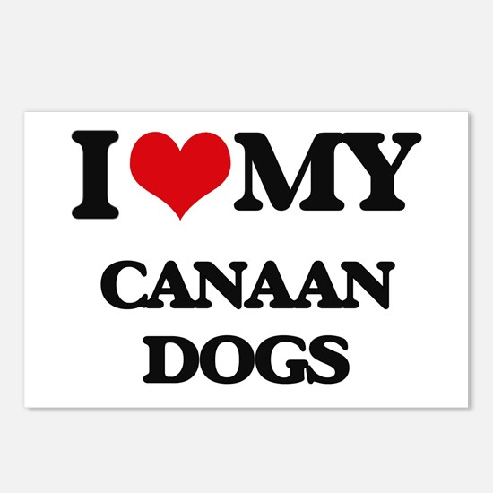 I love my Canaan Dogs Postcards (Package of 8)