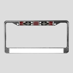 Ringed in Black License Plate Frame