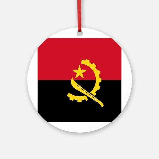Angola Flag Ornament (Round)