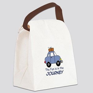 Fun Is In The Journey Canvas Lunch Bag