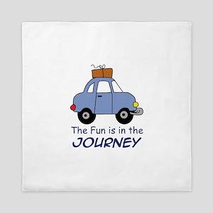 Fun Is In The Journey Queen Duvet