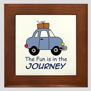 Fun Is In The Journey Framed Tile