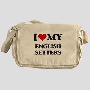 I love my English Setters Messenger Bag