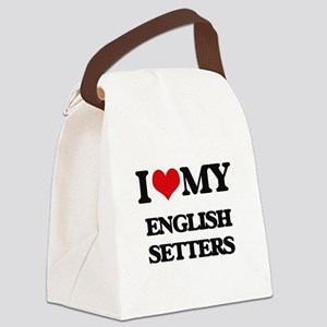 I love my English Setters Canvas Lunch Bag