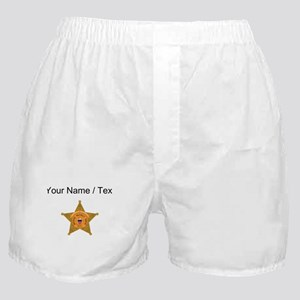 Deputy Sheriff Badge (Custom) Boxer Shorts