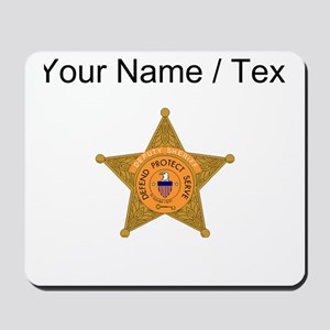 Deputy Sheriff Badge (Custom) Mousepad