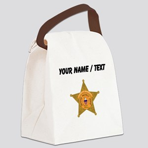 Deputy Sheriff Badge (Custom) Canvas Lunch Bag