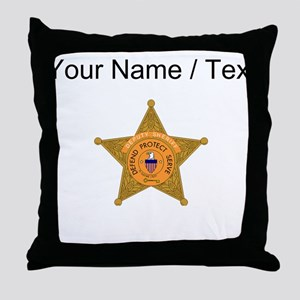 Deputy Sheriff Badge (Custom) Throw Pillow