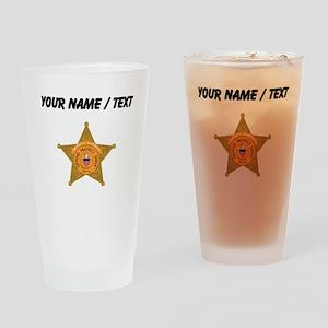 Deputy Sheriff Badge (Custom) Drinking Glass
