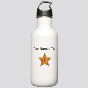 Deputy Sheriff Badge (Custom) Water Bottle