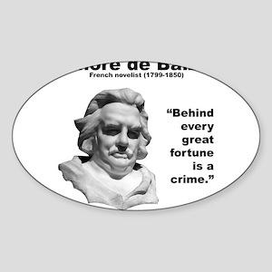 de Balzac Inequality Sticker (Oval)