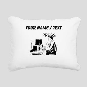 Journalist (Custom) Rectangular Canvas Pillow