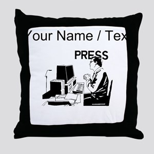 Journalist (Custom) Throw Pillow