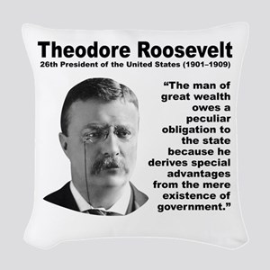 TRoosevelt Inequality Woven Throw Pillow