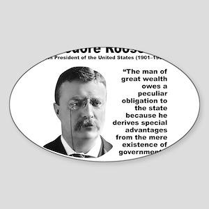 TRoosevelt Inequality Sticker (Oval)