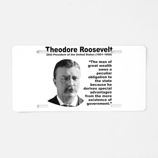 TRoosevelt Inequality Aluminum License Plate