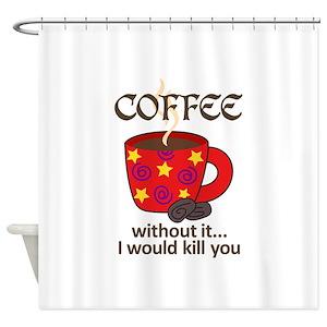 Coffee Bean Shower Curtains