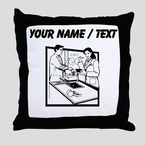 Grocery Clerk (Custom) Throw Pillow