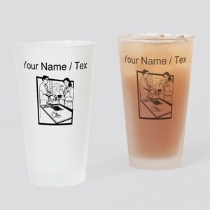 Grocery Clerk (Custom) Drinking Glass