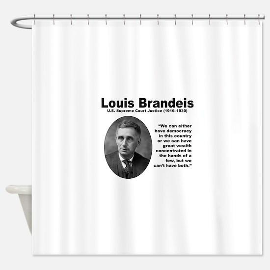 Brandeis Inequality Shower Curtain