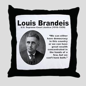 Brandeis Inequality Throw Pillow