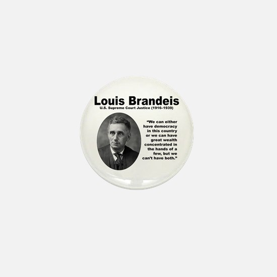 Brandeis Inequality Mini Button