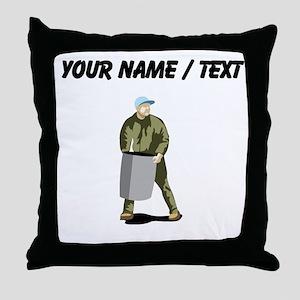 Garbage Man (Custom) Throw Pillow